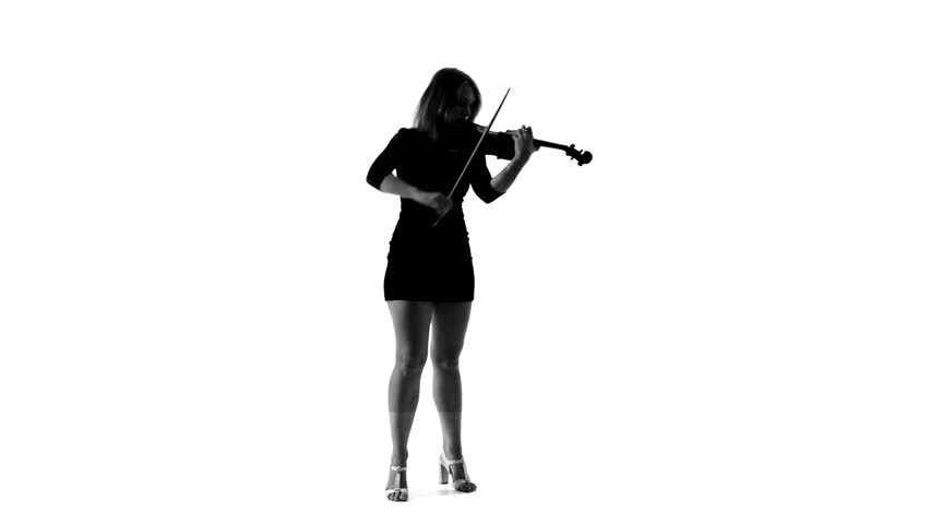 Cool Girl Violin Png - Black Silhouette of a Girl Stock Footage Video (100% Royalty-free ...