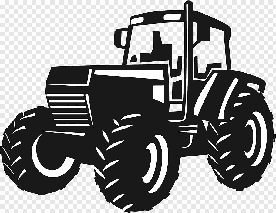 Tractor Drawing Png - Black tractor illustration, John Deere Tractor Agriculture ...
