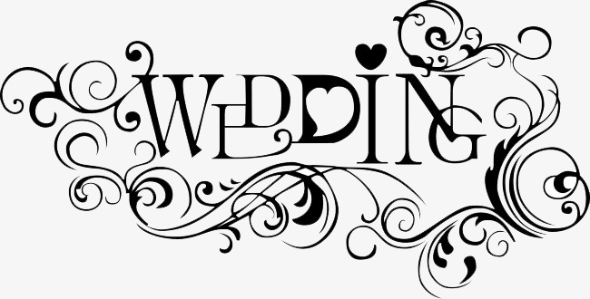 Wedding Clipart Black And White.Black Wedding Title Wedding Clipart En 131298 Png Images Pngio