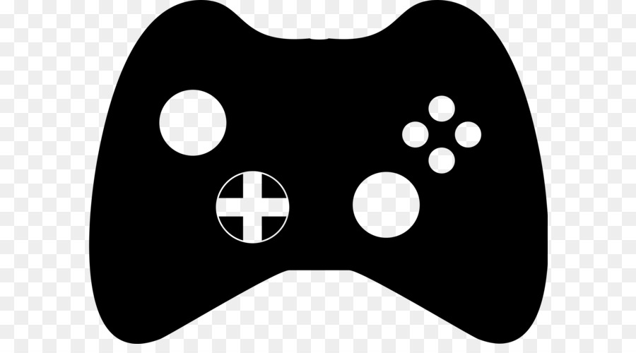 Game Black And White Png - Black & White Xbox 360 controller Game controller Clip art ...
