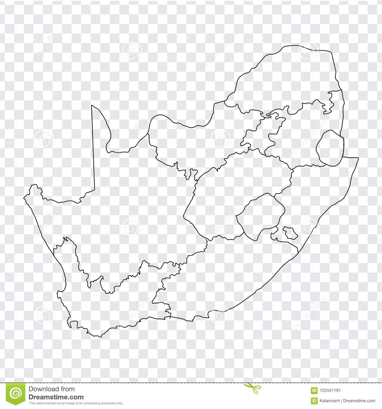 Picture of: Blank Map South Africa High Quality Map 907619 Png Images Pngio