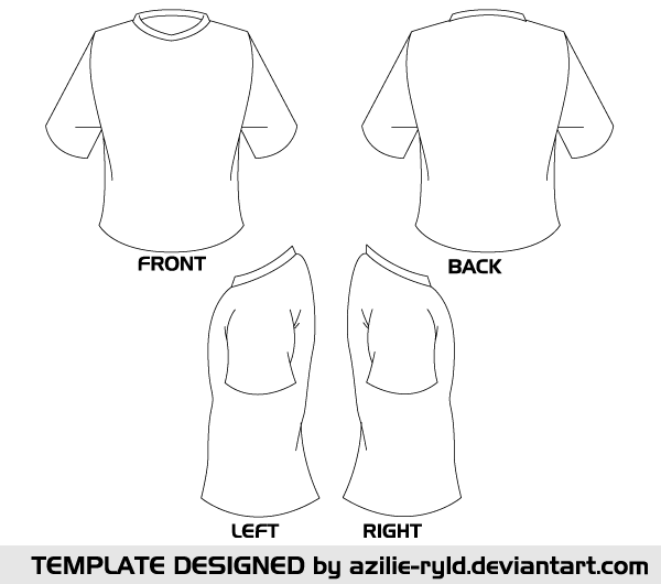 Printable Tshirt Template Png - Blank Tshirt Template Vector Front and Back | Education | T shirt ...