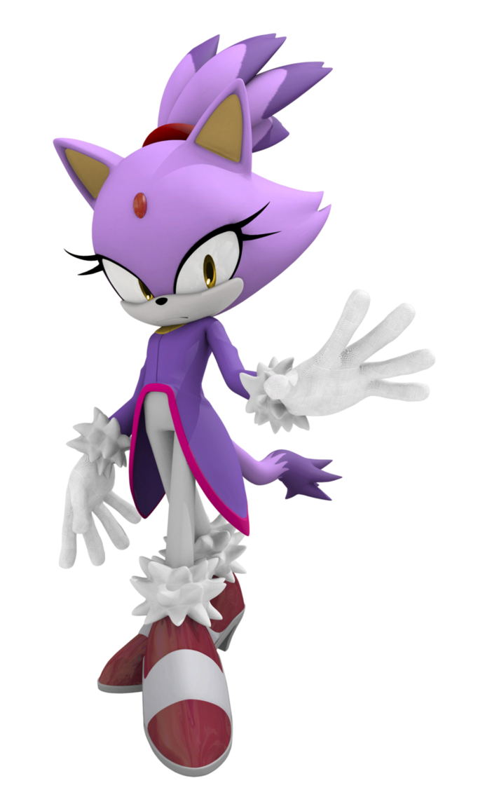 Blaze The Cat Sonic The Hedgehog Sfm W 651572 Png Images Pngio
