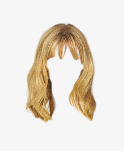 Blonde Png - blonde hair wig to pull the material free, Golden, Hairstyle, Wig PNG Image