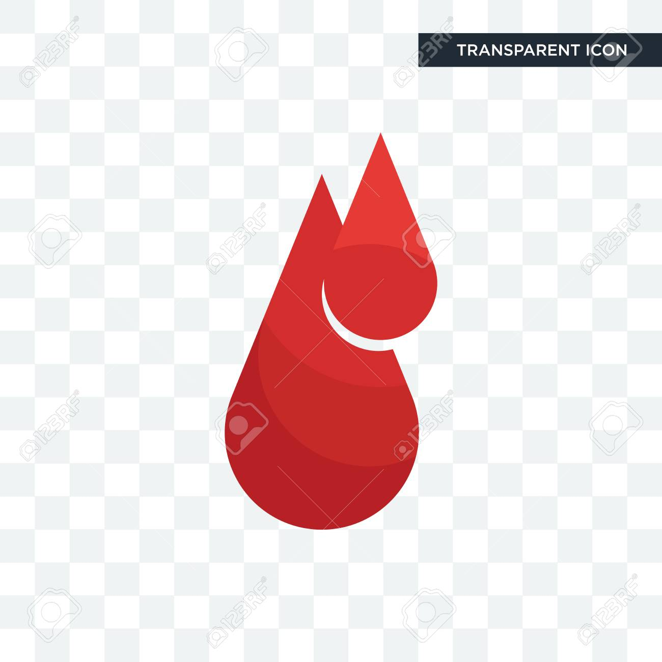 Blood Drop Transparent - Blood Drop Vector Icon Isolated On Transparent Background, Blood ...