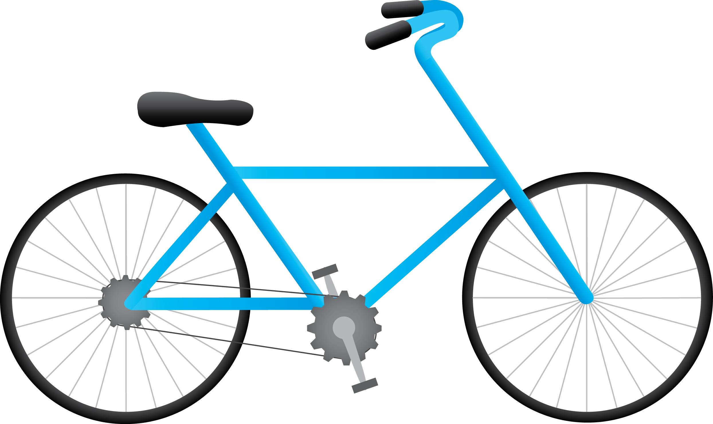Bicycle Png - Blue Drawing Bicycle Png ClipArt image #45203