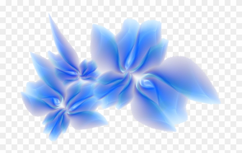 Blue Abstract Flowers Png - Blue Flower Border Designs , Png Download - Abstract Flower ...