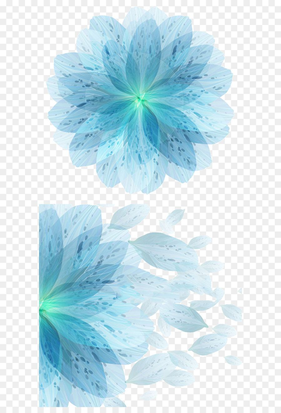 Blue Abstract Flowers Png - Blue Flower Euclidean vector - Blue flowers vector material ...