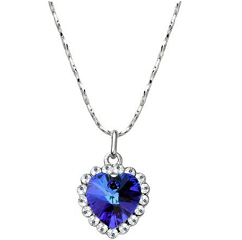 """Heart Of The Ocean Png - Blue """"Heart Of The Ocean"""" Crystal Pendant Necklace Only $1.95 ..."""