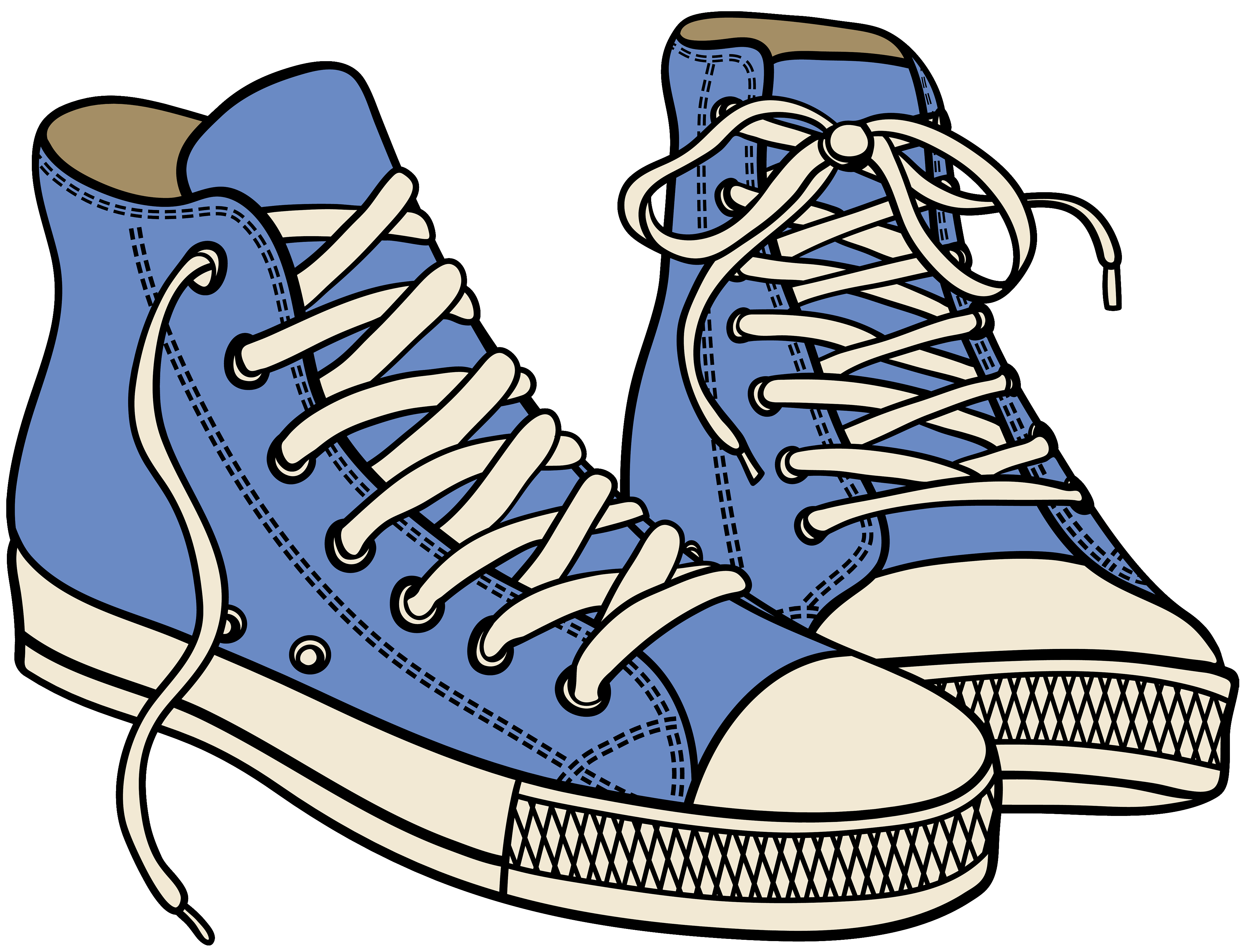 Shoes Clipart Png - Blue High Sneakers PNG Clipart - Best WEB Clipart
