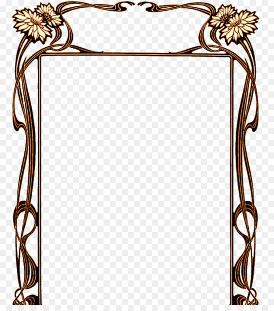 Free Art Deco Png Frames - Borders and Frames Art Nouveau Art Deco - brown frame png download ...
