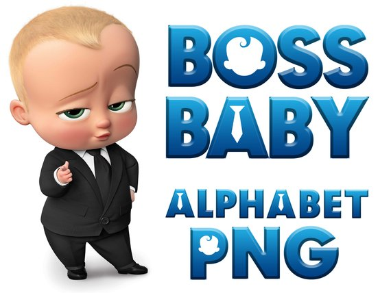 Boss Baby Digital Alphabet Clipart Its A 705433 Png Images Pngio