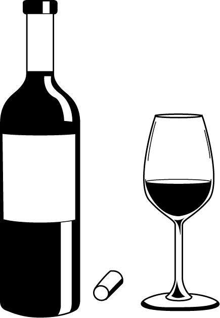 Wine Bottle Black And White Png Free Wine Bottle Black And White Png Transparent Images 126705 Pngio