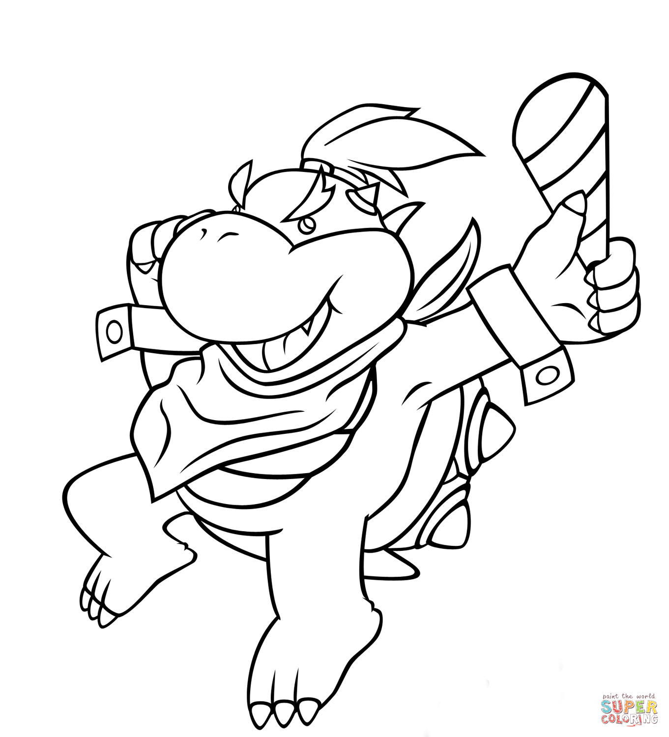 Jeffy Coloring Pages - Bowser Jr. coloring page | Free Printable Coloring Pages
