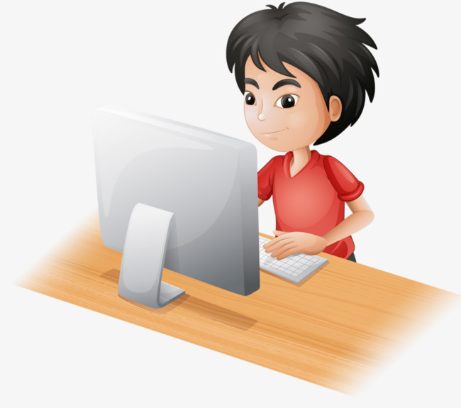 Computer Boy Png - Boy Working On Computer Png & Free Boy Working On Computer.png ...
