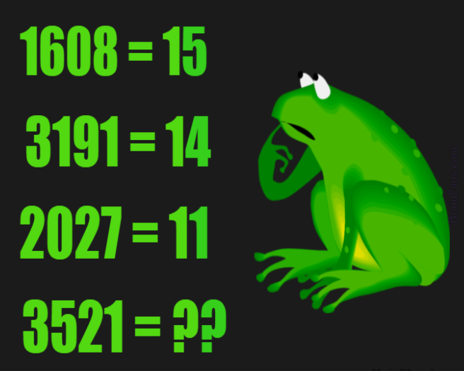 Frog Math Png - Brain teaser - Number And Math Puzzle - Frog logic puzzle - Replace ?? with