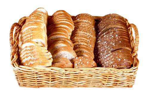 Bread Png - Bread Slices in Wicker Basket PNG Image