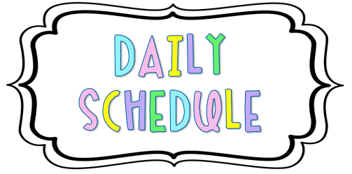 Brennecke, K/1st Grade / Daily Schedule #201416 - PNG Images - PNGio