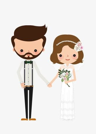 Bride And Groom Cartoon Png - Bride And Groom PNG, Clipart, Bearded, Bearded Man, Bride Clipart ...