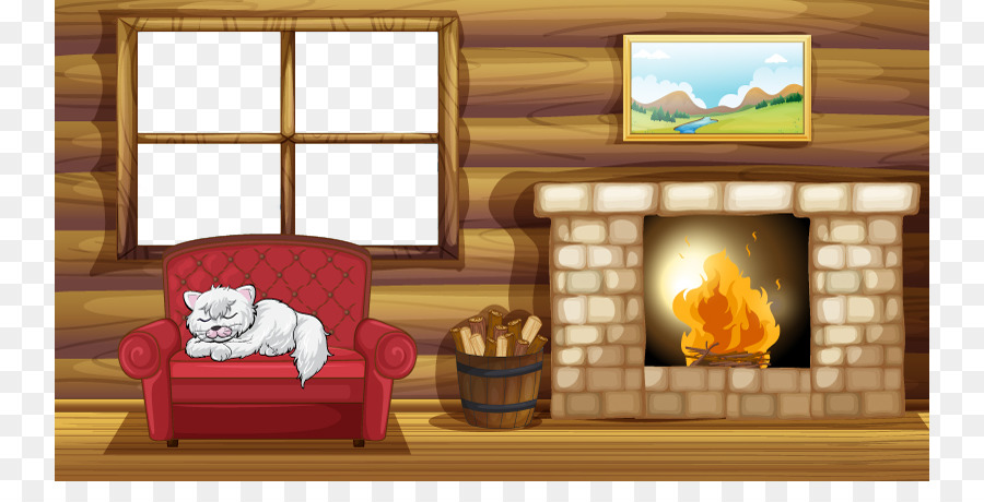 Living Room With Fireplace Png - Brown Background Frame png download - 800*441 - Free Transparent ...