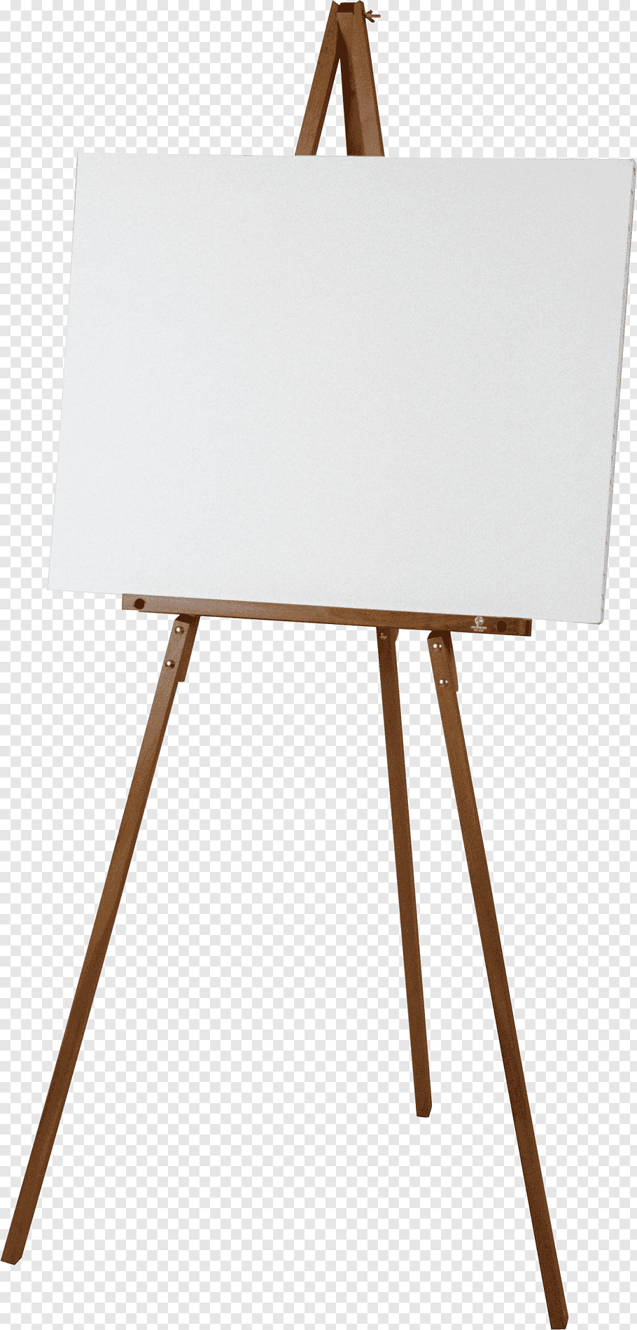 Portable Artist Easel Png - Brown easel and white canvas portable network graphic, Easel ...