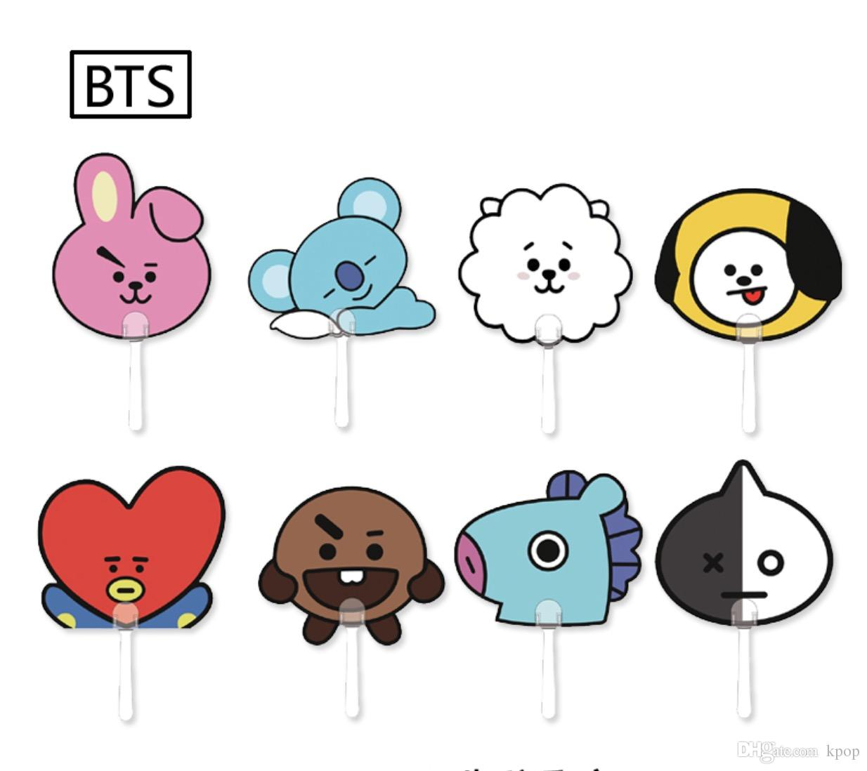 bts bt21 cartoon transparent plastic fan fan online with 515 bt21 transparent 1234 1098