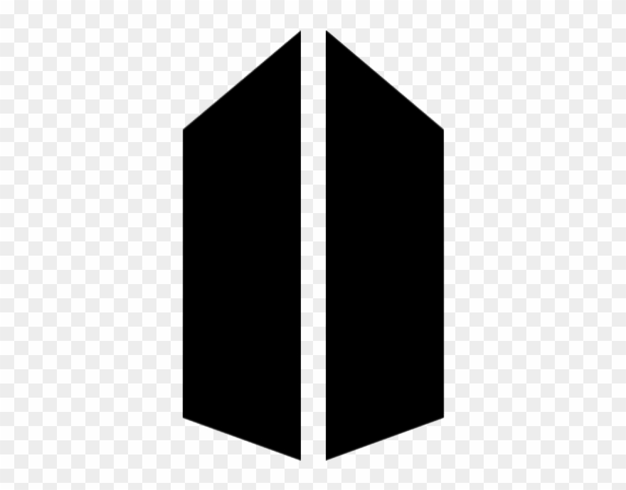 bts logo png white love yourself answer png clipart 1271625 bts logo transparent background 880 690