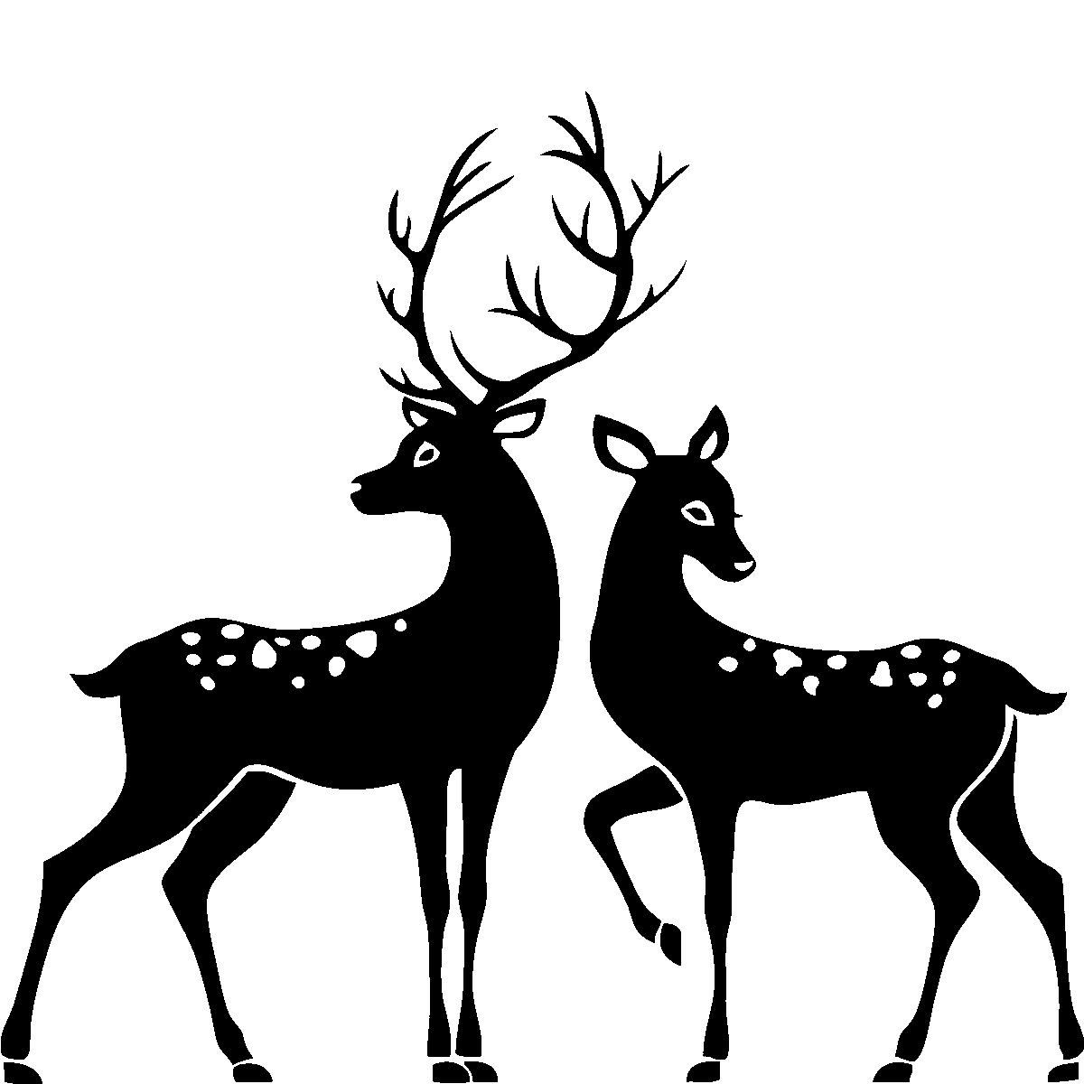 Stag And Doe Png - Buck And Doe Png & Free Buck And Doe.png Transparent Images #53594 ...