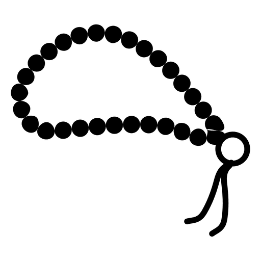 Prayer Beads Png - Buddhist prayer beads icon - Transparent PNG & SVG vector file