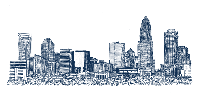 Charlotte Cityscape Drawing Png - BUILDINGS & HOMES — katherine killeffer