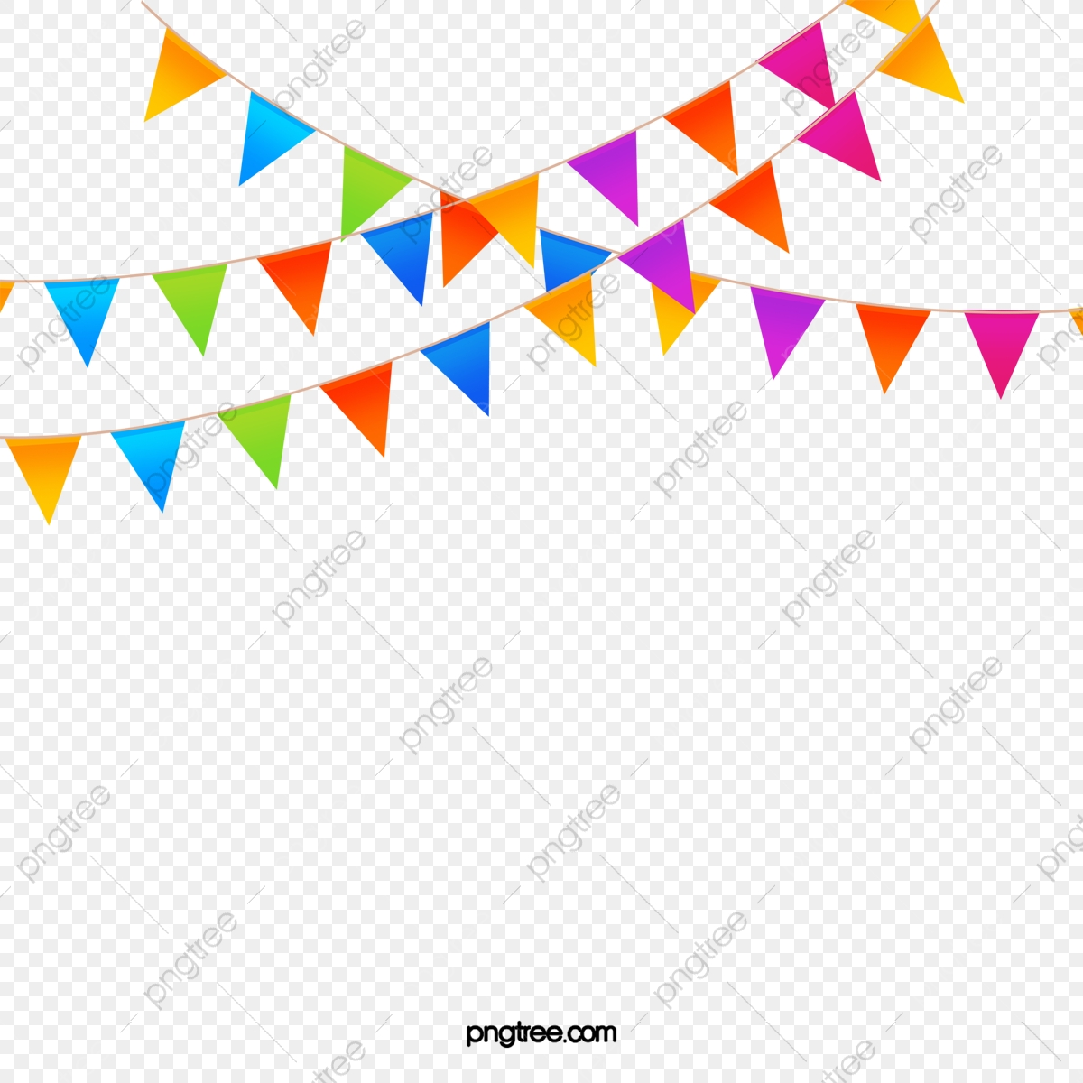 Triangle Banner Png - Bunting, Pennant, Banner PNG Transparent Clipart Image and PSD ...