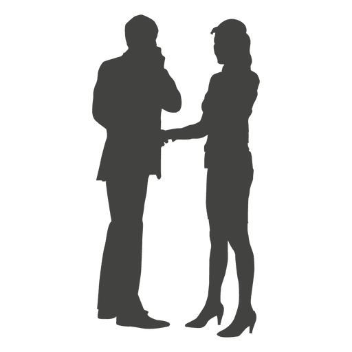 Woman Talking On Phone Png - Businessman woman talking phone - Transparent PNG & SVG vector