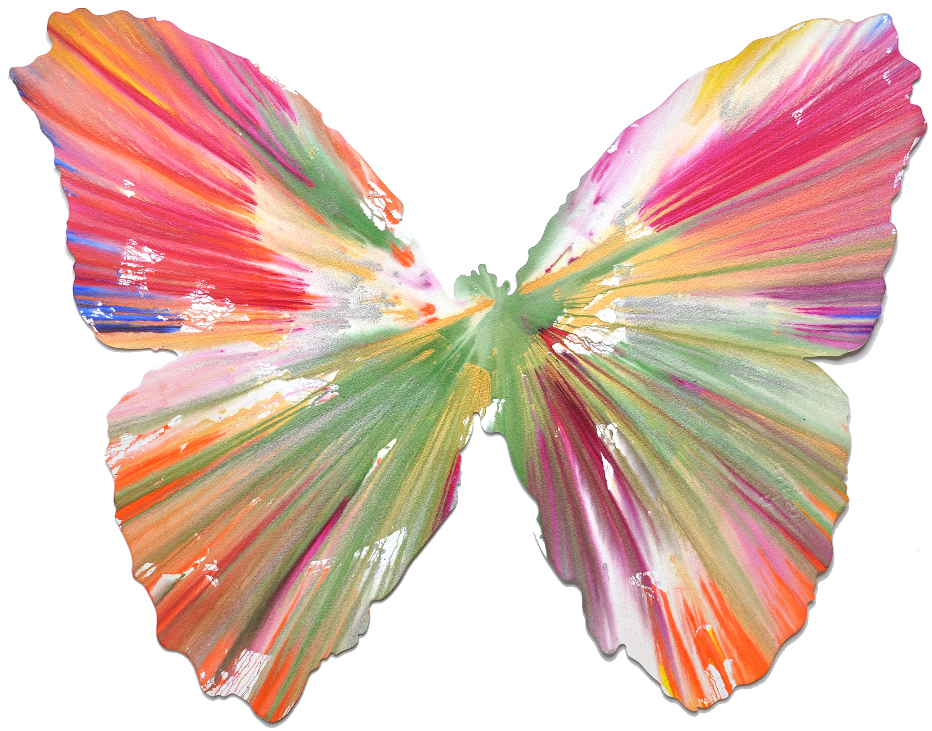 Damien Hirst Png - Butterfly Spin Painting - Damien Hirst | Paddle8