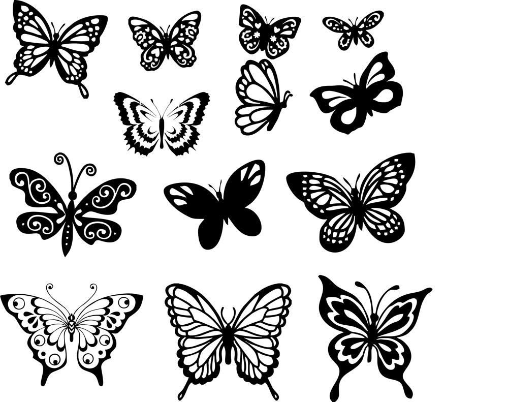 Butterfly Vector - Butterfly Vector Art Set Free Vector cdr Download - 3axis.co