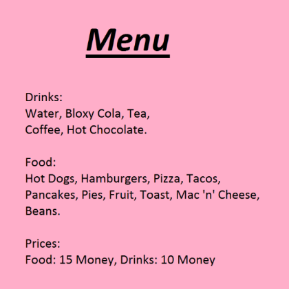 Roblox Id For Bloxburg Cafe Sign Roblox Cafe Menu Png Free Roblox Cafe Menu Png Transparent Images 115340 Pngio