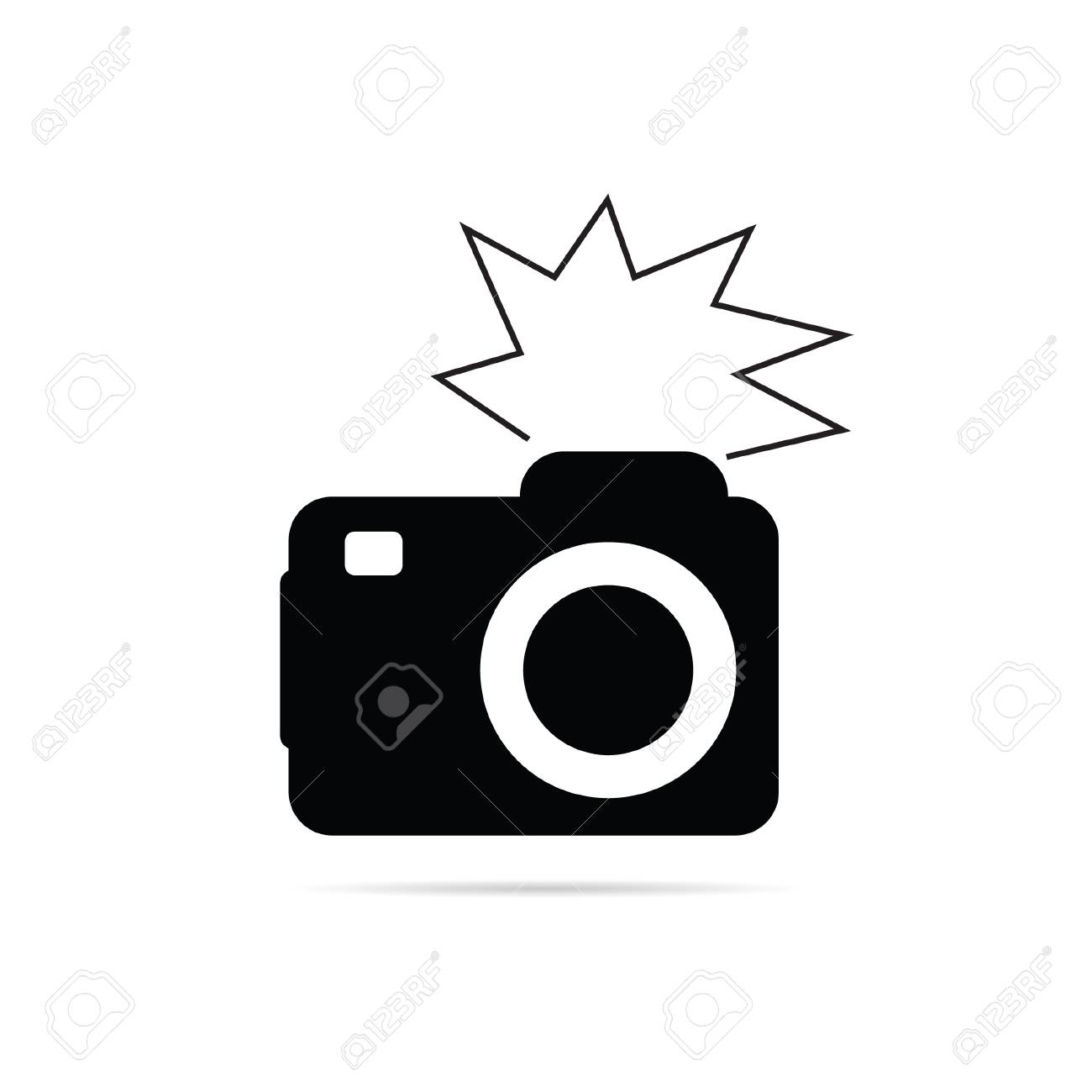 Camera Flash Black And White Vector Illu 824534 Png Images Pngio