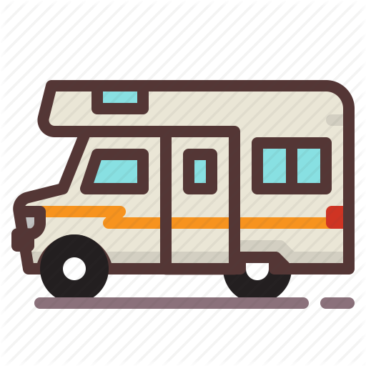 Recreational Vehicle Png - Camper, camping, outdoors, recreational vehicle, rv icon