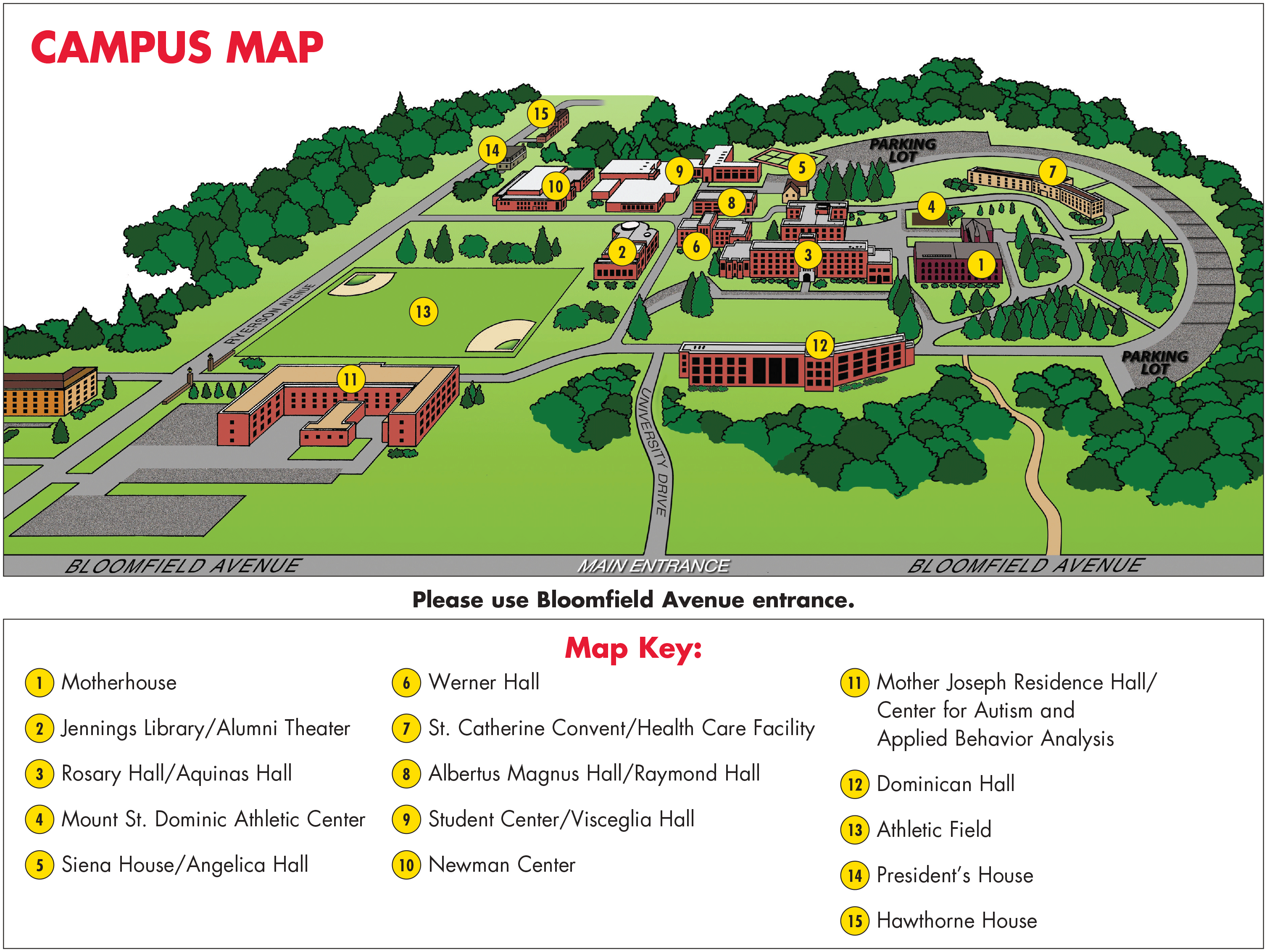 st joseph university campus map Campus Map Caldwell University New Je 1247086 Png Images Pngio