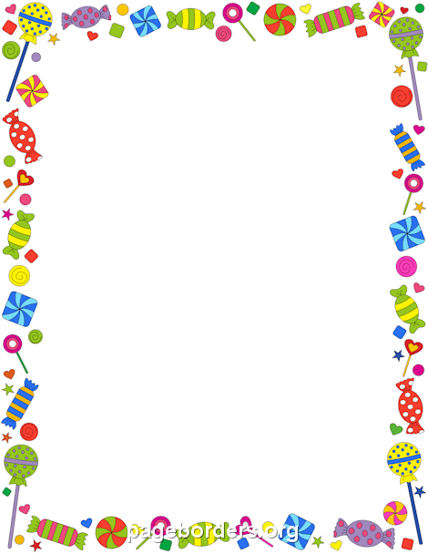 Candy Border - Candy Border: Clip Art, Page Border, and Vector Graphics