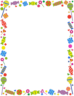 Candy Border - Candy Border - Wonderful website! There are printables for ...