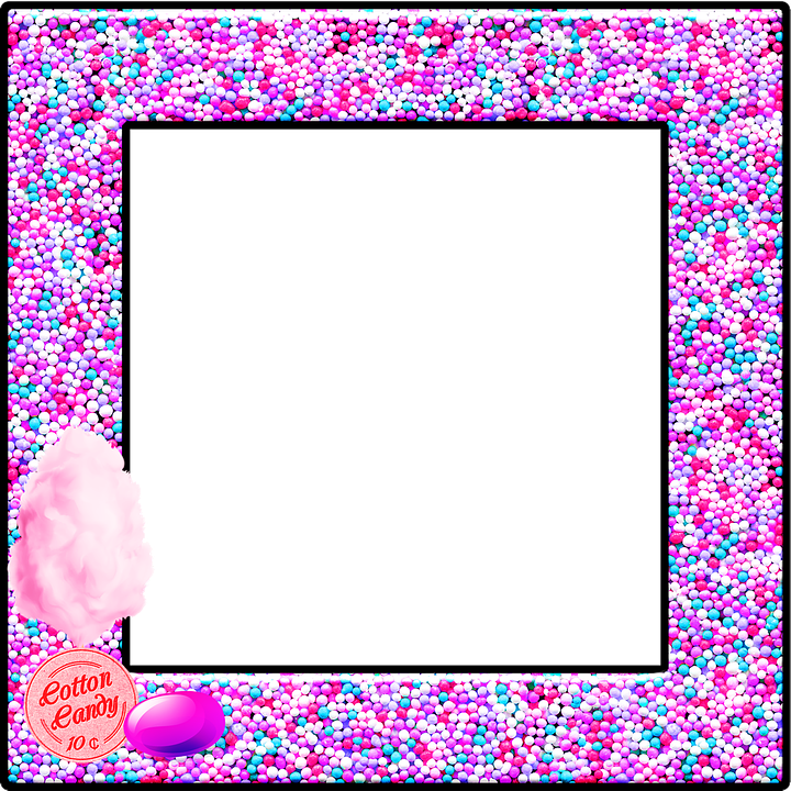 Cotton Candy Frame Png - Candy Frame Cotton Pink - Free image on Pixabay
