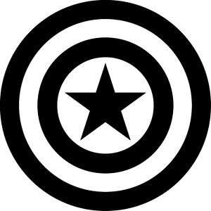 Captain America Logo Black And White Free Captain America Logo Black And White Png Transparent Images 50265 Pngio