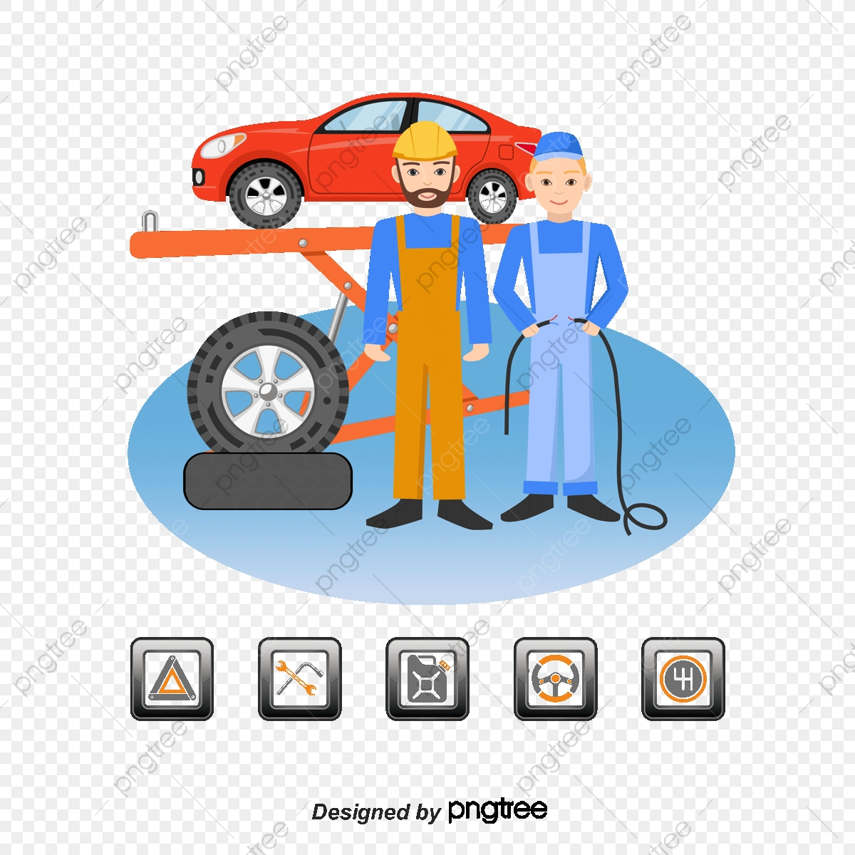 Happy Car Wrench Png - Car Repair Station Vector Image, Service Centre, Maintenance ...