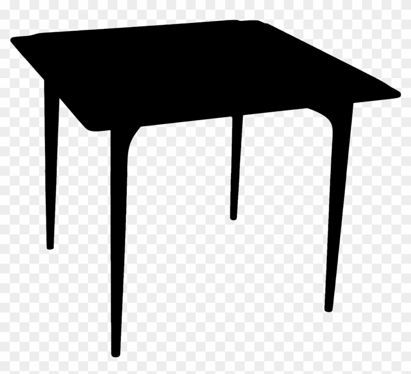 Table Silhouette Png - Card Table Silhouette - Coffee Table, HD Png Download - 1388x1388 ...