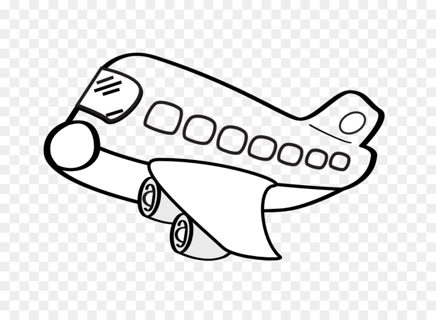 cartoon airplane clipart transparent background