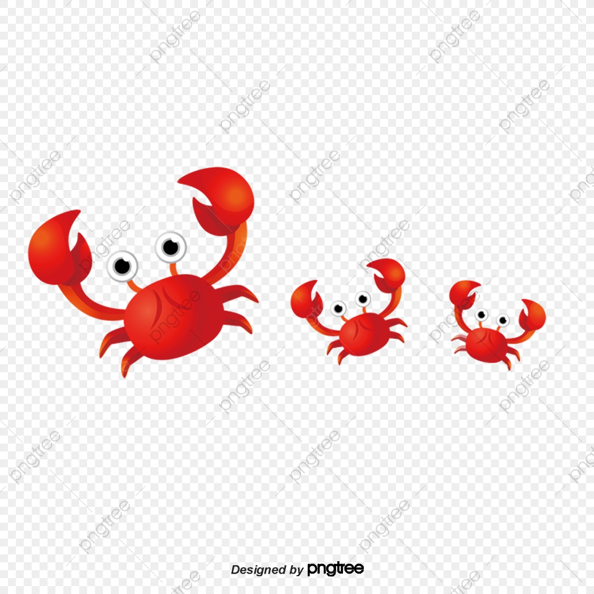 Cute Crab Png - Cartoon Cute Crab, Cartoon, Lovely, Red PNG Transparent Clipart ...