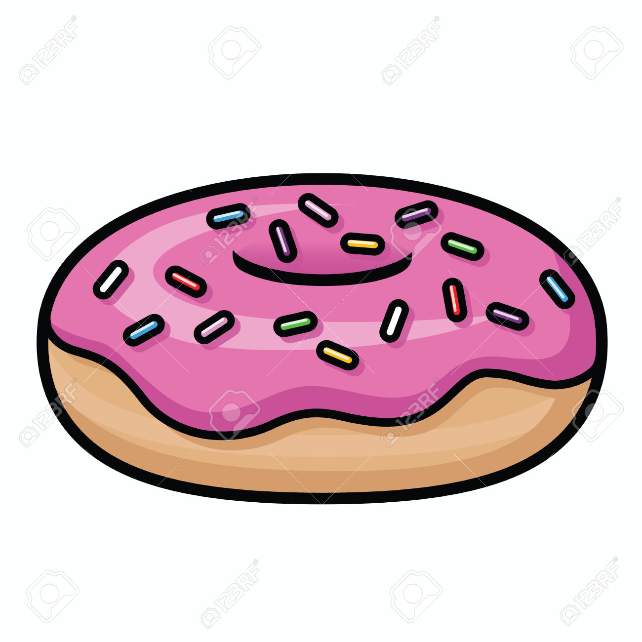 Cartoon Donut - cartoon donut Doughnut clipart cartoon pencil and inlor doughnut ...