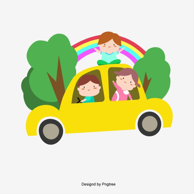 Outing Png - Cartoon Family Go For A Spring Outing, Cartoon, Cute, Lovely PNG ...