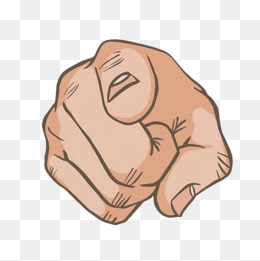 Free Png Hand Pointing Finger - cartoon finger, Cartoon Clipart, Hand Painted Fingers, Point PNG Image and  Clipart