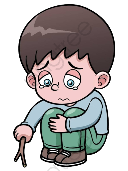 Cartoon Hand Painted Lonely Boy Cartoon 377602 Png Images Pngio